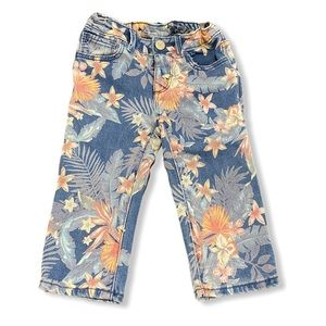 Baby Gap- Straight Crop Tropical Floral Jeans 4T